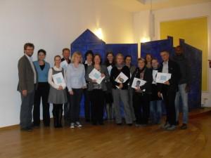 """Teilnehmende der Weiterbildung """"Partizipationsbegleiter/in Schwerin"""" 2012"""